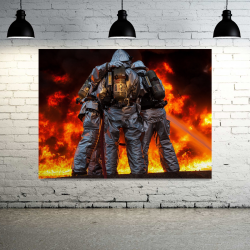 Firefighter Canvas Wall Art - 1 Panel
