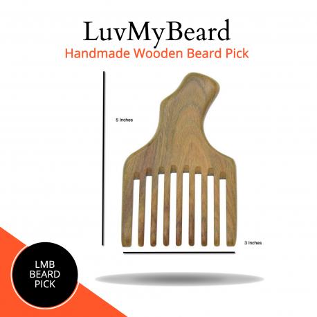 Handmade Wooden Beard Pick