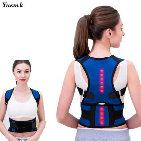 Magnetic Female Posture Corrector Orthopedia Tourmaline Back Belt Waist Shoulder Brace Support Corset for Child and AdultAdd pro