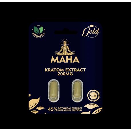 Maha Kratom Premium Gold Extract Capsules