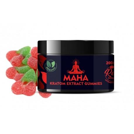 Maha Kratom Extract Gummies - Red Strain - Relax & Chill