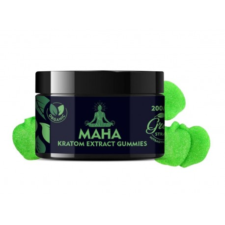 Maha Kratom Extract Gummies - Green Strain - Maximum Comfort
