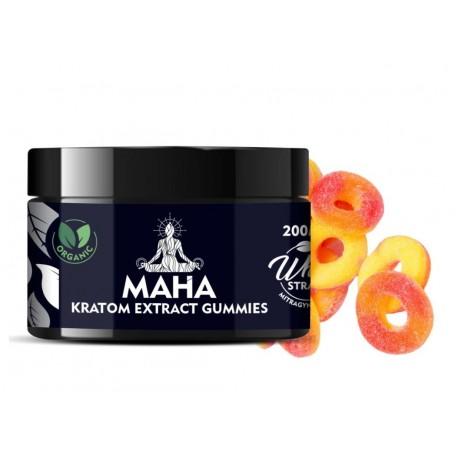 Maha Kratom Gummies - White Strain - Maximum Energy