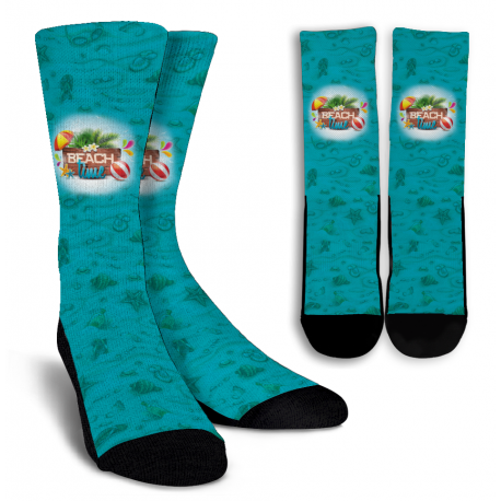 Beach Time Crew Socks