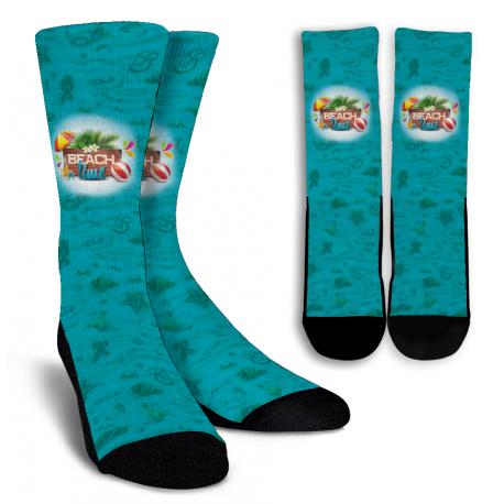 Beach Time Crew Socks