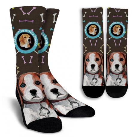 Beagle Crew Socks
