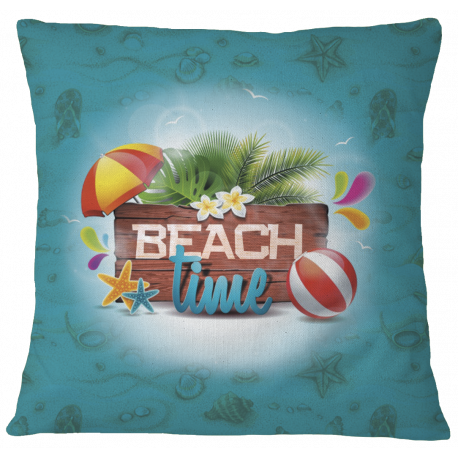 Beach Time Pillow Case Cover