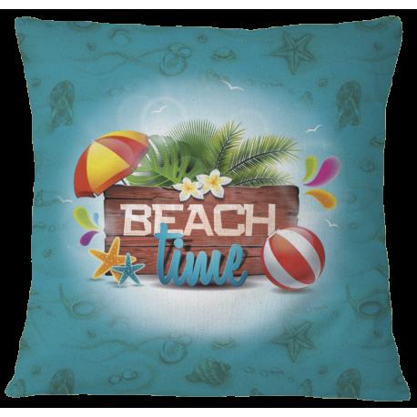 Beach Time Pillow Case Cover