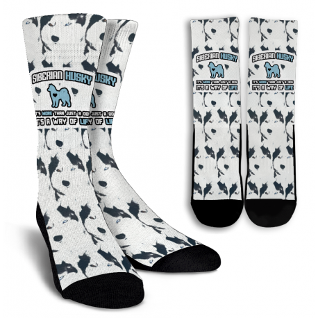 Husky Crew Socks - White