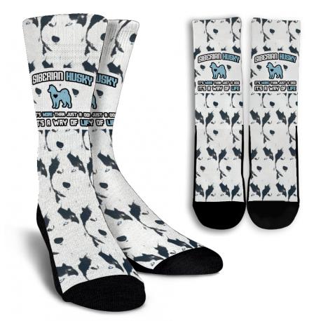 Husky Crew Socks - White