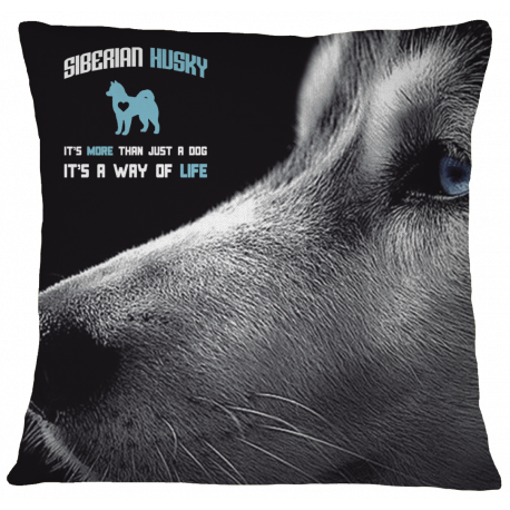 Husky Pillow Case Cover - White