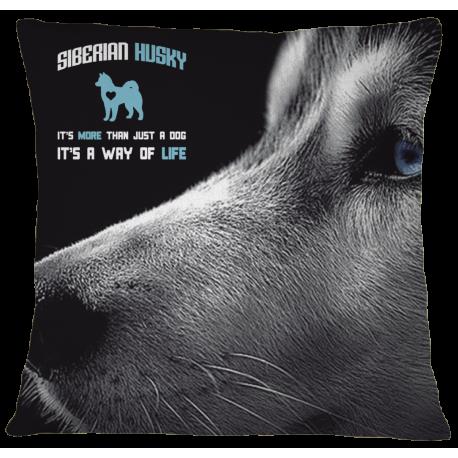 Husky Pillow Case Cover - White