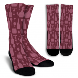 Wine Lovers-4 Crew Socks - White