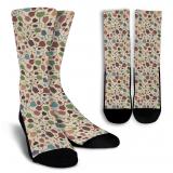 Wine Lovers-7 Crew Socks - White