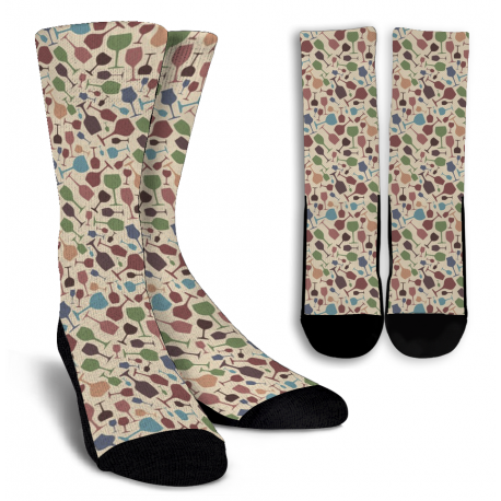 Wine Lovers-7 Crew Socks - White