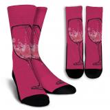 Wine Lovers-10 Crew Socks - White