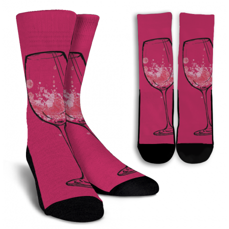 Wine Lovers-10 Crew Socks - White