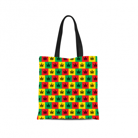 Rasta Style Canvas Tote Bag