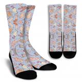 Cats Meow Crew Socks - White