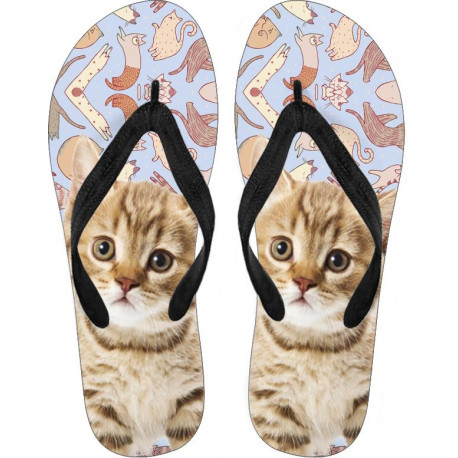 Cats Meow Flip Flops - White