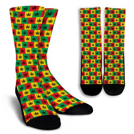 Rasta Style Crew Socks