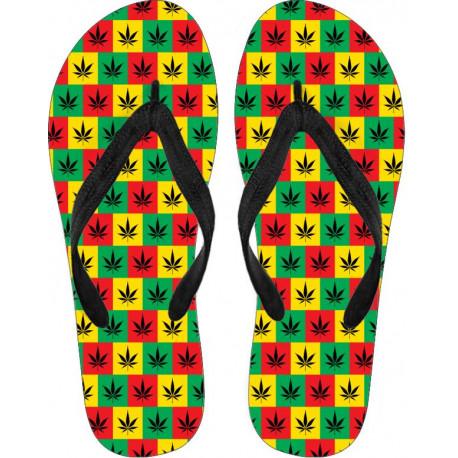 Rasta Style Flip Flops