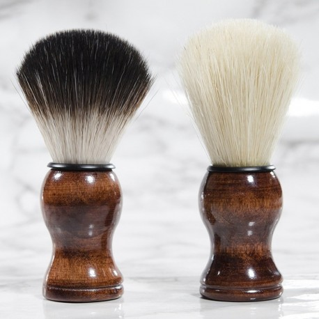 Shaving Brush with Wood Handle & Synthetic Hair