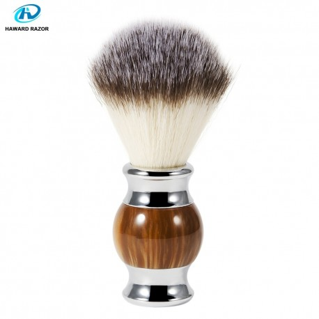 Shaving Brush from Agate Resin with Synthetic Hair
