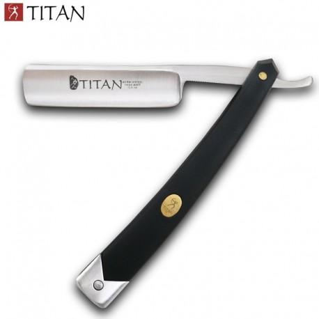 Straight razor with black handle