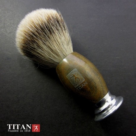 Shaving Brush with Badger Hair & Green Aalgum Wood