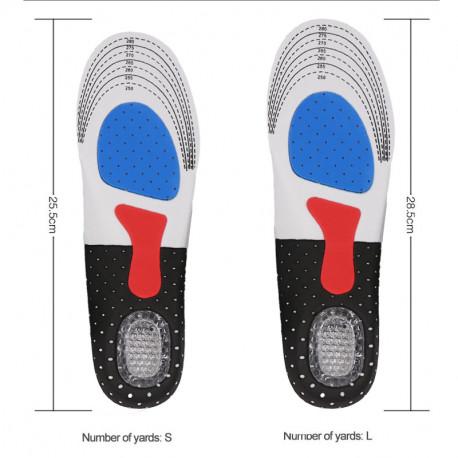Plantillas deportivas de Gel de silicona para pies planos y fascitis plantar