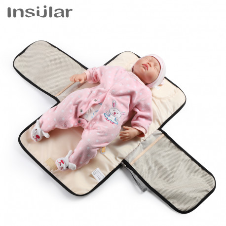 Almohadillas de cambio de bebé aislantes multifunción portátil