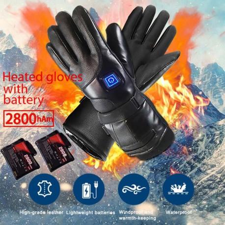 Guantes eléctricos recargables calentados a batería para alpinismo, esquí, camping, Guantes Térmicos para invierno, para exterio