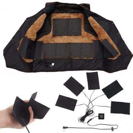 1 Juego de almohadillas calefactoras eléctricas  ropa térmica chaqueta térmica