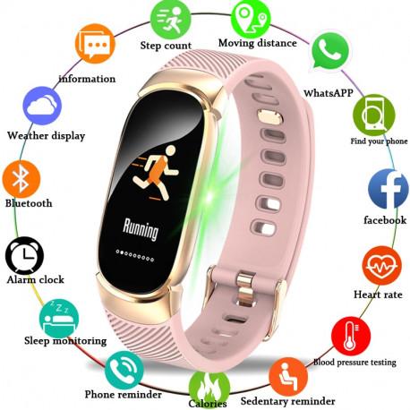 Pulsera inteligente LIGE Sport para hombre y mujer, reloj inteligente a prueba de agua, podómetro de presión arterial, pulsera i