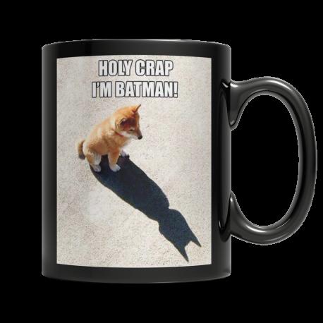 Holy Crap, I'm Batman!  11oz Black Ceramic Mug (MondoPooch Exclusive)