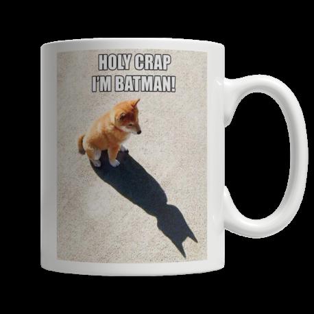 Holy Crap, I'm Batman! 11oz Ceramic White Mug (MondoPooch Exclusive)