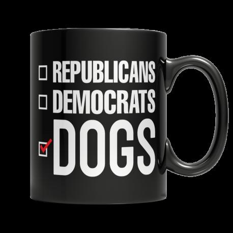Dogs are Better Than Politics 11oz Mug