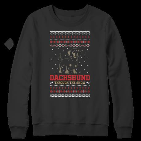 Dachshund Through The Snow Christmas Sweater