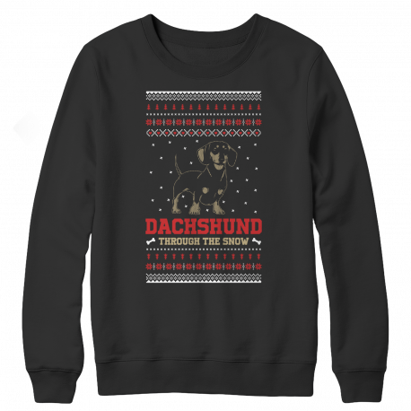 Dachshund Through The Snow Christmas Sweater