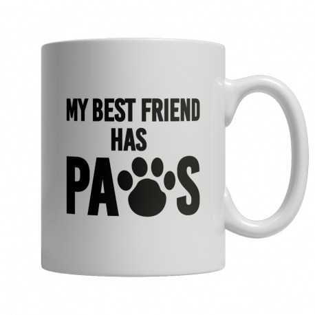 Limited Edition 11oz Mug - My Best Friend Has Paws