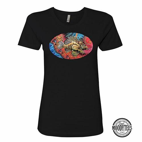 Fractal Lion Fish Womens T-Shirt