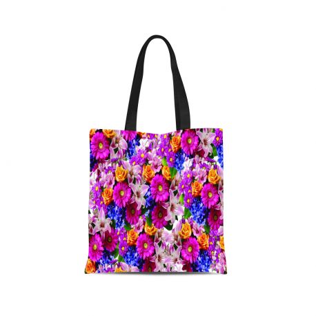 Floral Pattern Canvas Tote