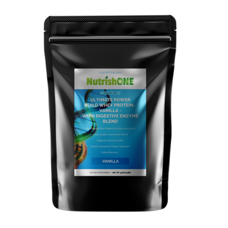 Ultimate Power Build Whey Protein With Digestive Enzyme Blend - Vanilla