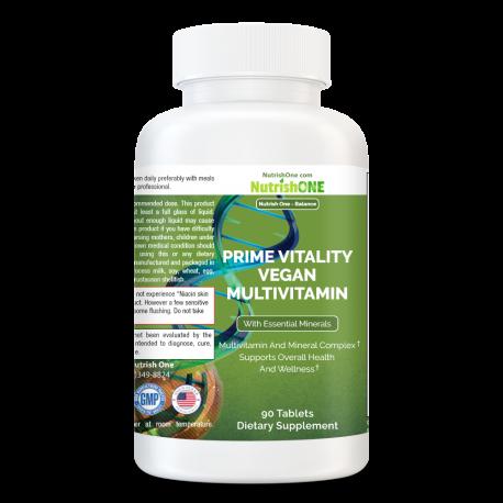 Prime Vitality Vegan Multivitamin