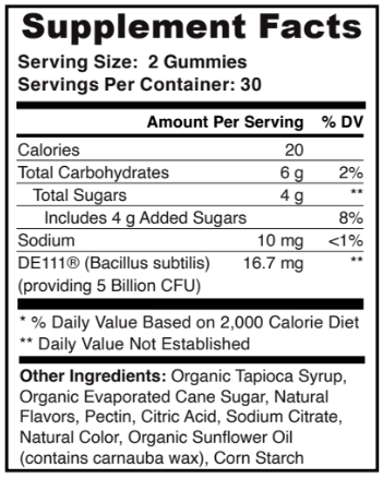Active Adult Probiotic Gummies
