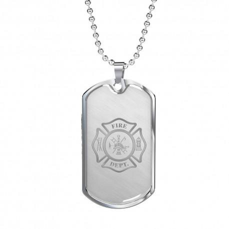 Firefighter Logo - Stainless