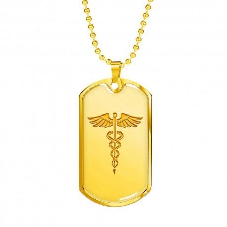 Nurse Doctor Logo - Gold