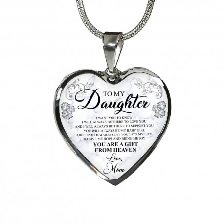 To My Daughter, I Will Always Be There To Love You -  Stainless Heart