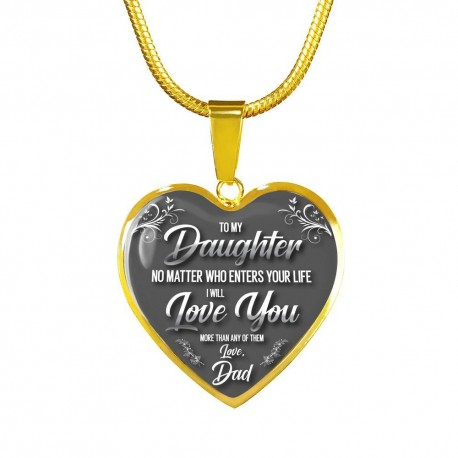 To My Daughter, No Matter What - Dad - Gold Heart